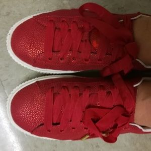 Puma Basket Platform LUX Sneakers, shoes, US 9